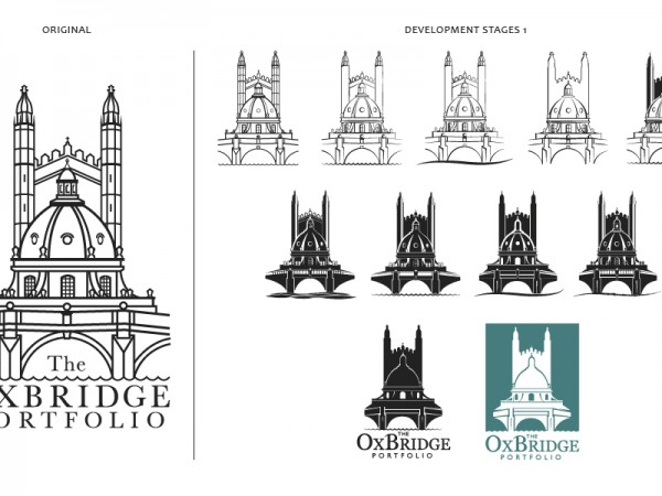 Logo development for The OxBridge Portfolio – 1