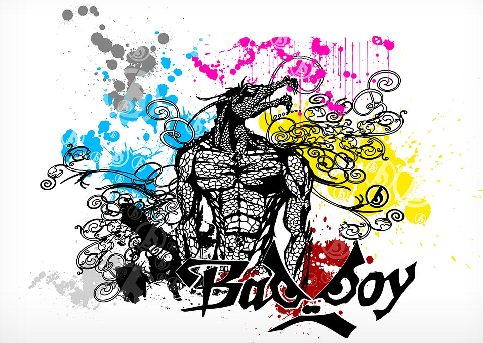 'Reptile Storm' illustration for Badboy clothing