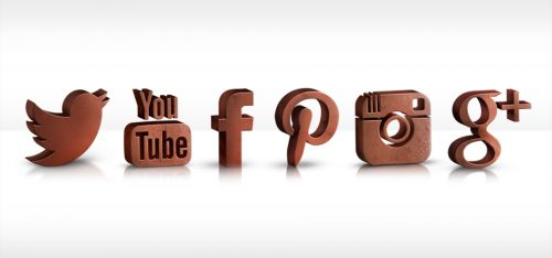 Chocolate Social Media Icons for Hotel Chocolat
