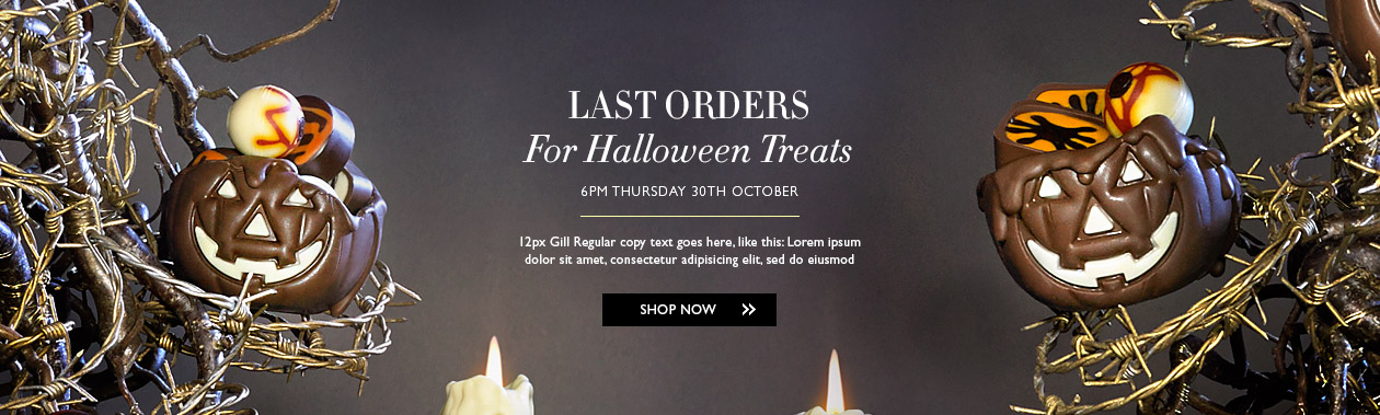 Halloween14 1260x379 px home banner for Hotel Chocolat