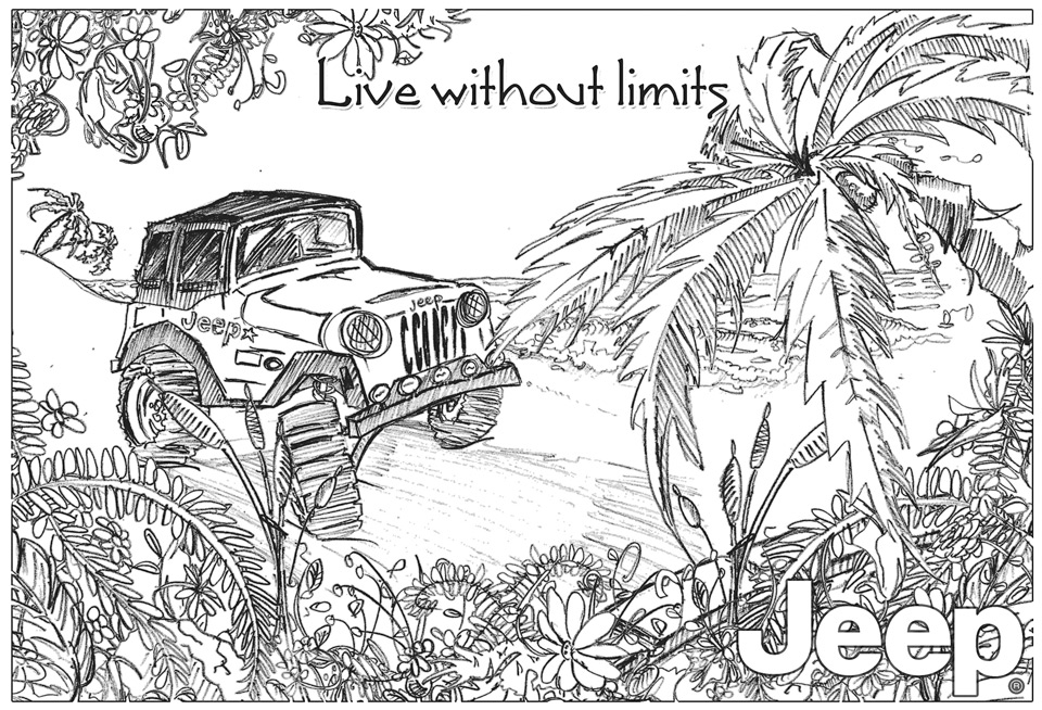 Jeep Beach illustration for Jeep – Durban, South Africa