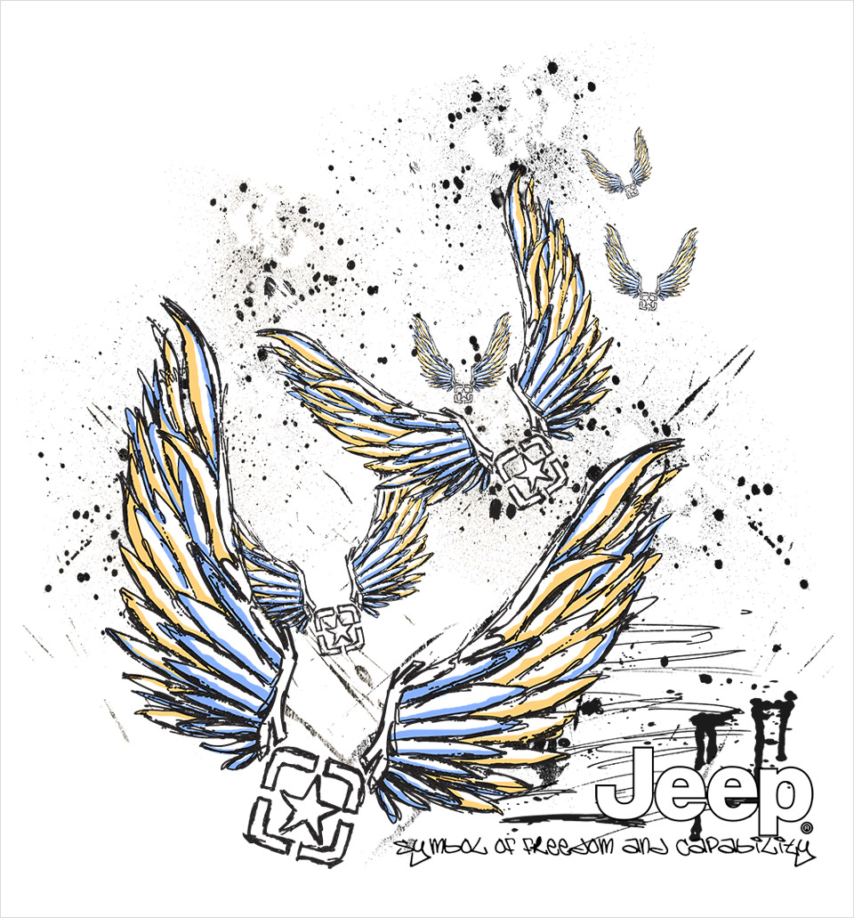 Jeep 'Freedom Wings' illustration