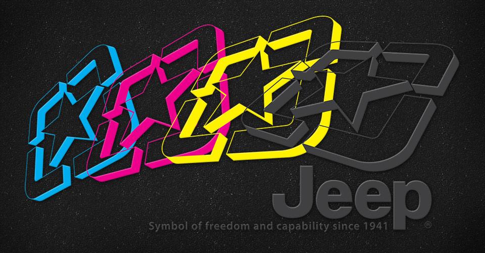Jeep CMYK Stars design