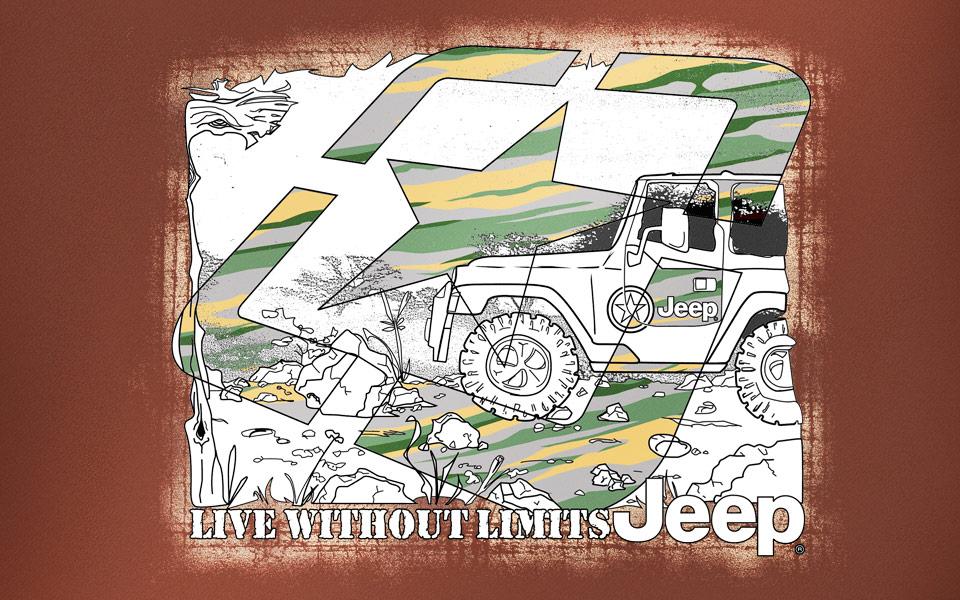 Jeep Camo illustration