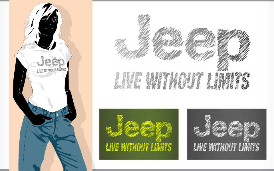 Jeep Ladies Scribble design